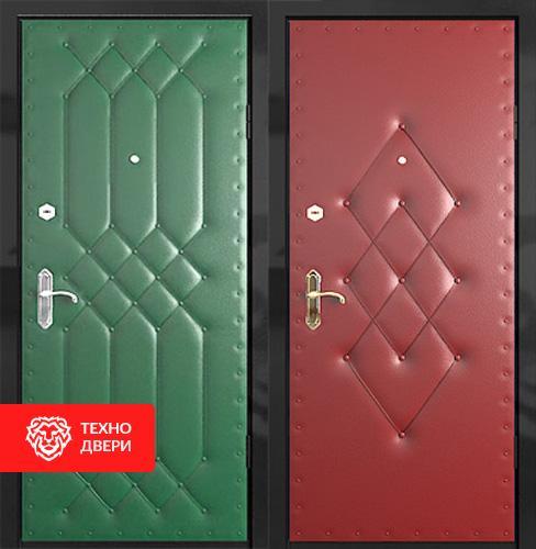 Металлическая дверь с винилискожей с рисунком с 2-х сторон, 55488
