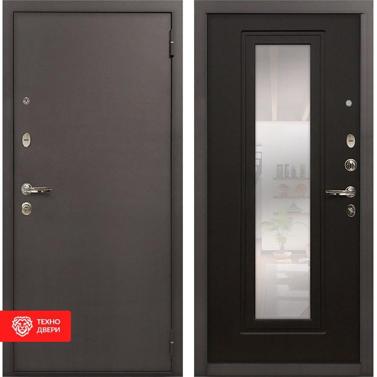 Входная стальная дверь с зеркалом Венге, 5324