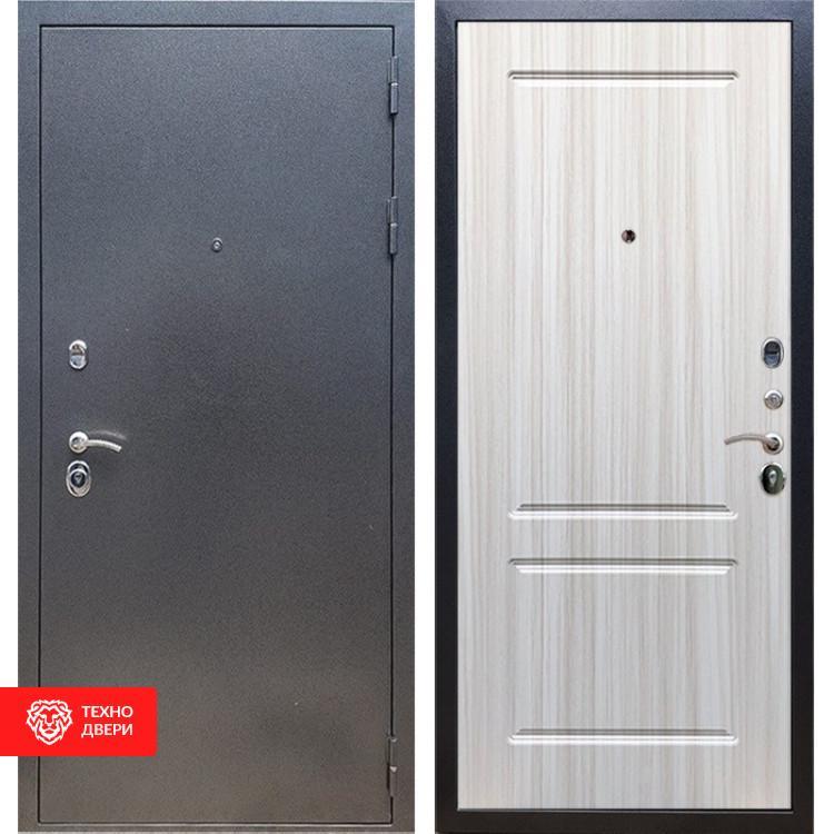 Входная стальная дверь Антик серебро / Сандал белый, 16621