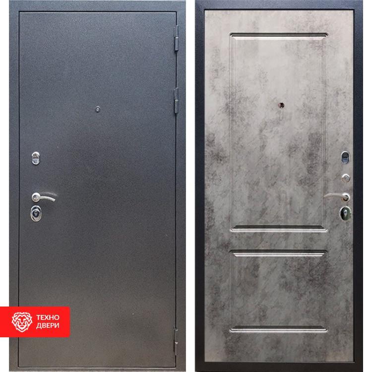 Входная стальная дверь Антик серебро / Бетон тёмный, 16622
