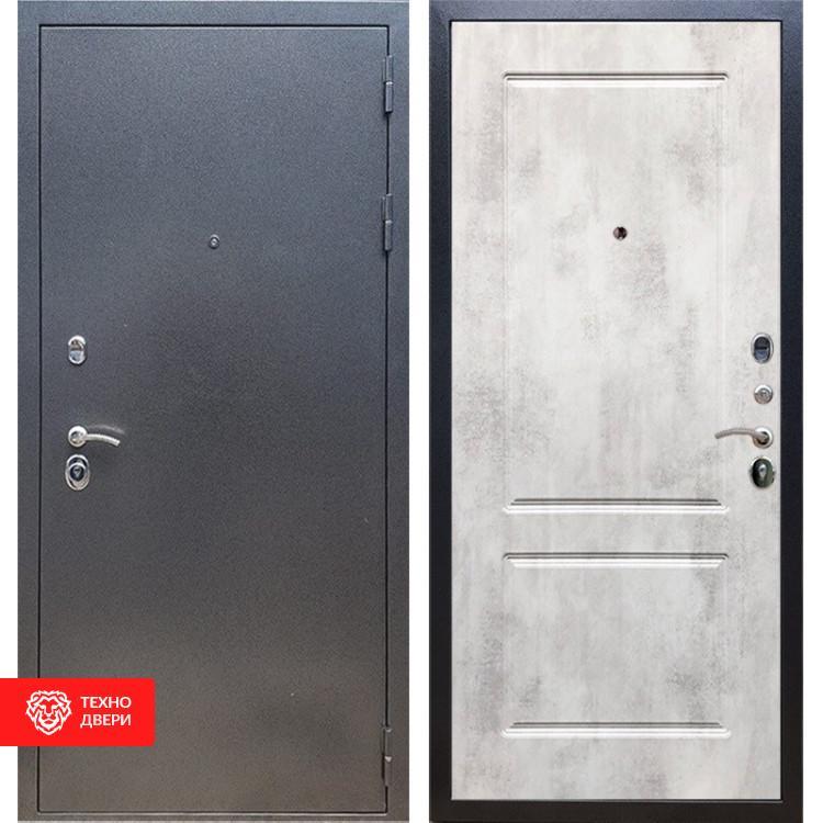 Входная стальная дверь Антик серебро / Бетон светлый, 11623