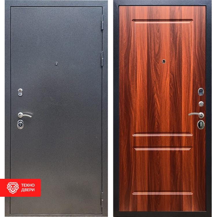 Входная стальная дверь Антик серебро / Орех итальянский, 16624