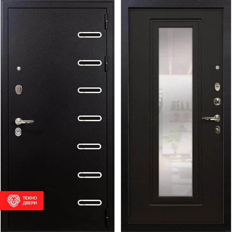 Входная металлическая дверь с зеркалом Венге, 4111