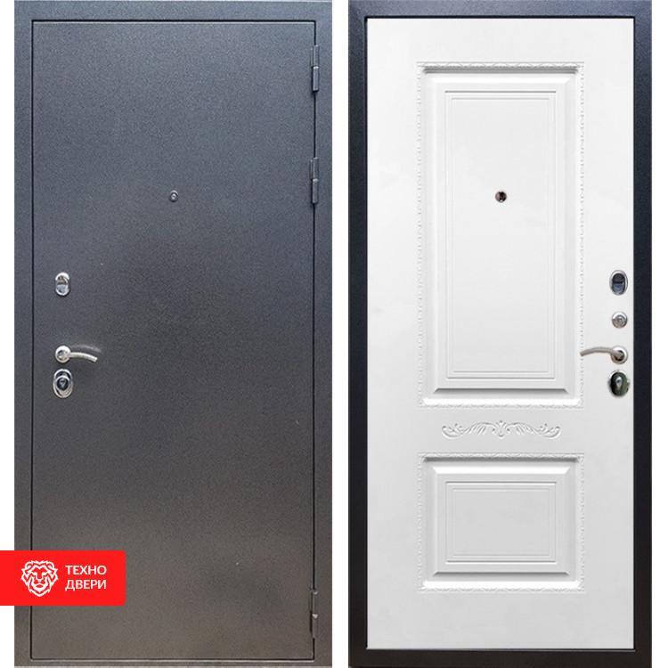 Входная стальная дверь Антик серебро / Белый матовый, 16636