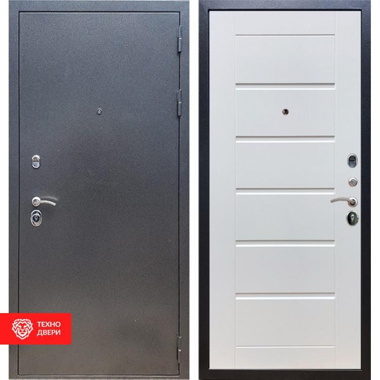 Входная стальная дверь Антик серебро / Белый ясень, 16634