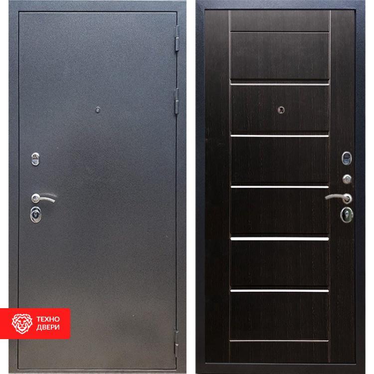 Входная стальная дверь Антик серебро / Венге, 16638