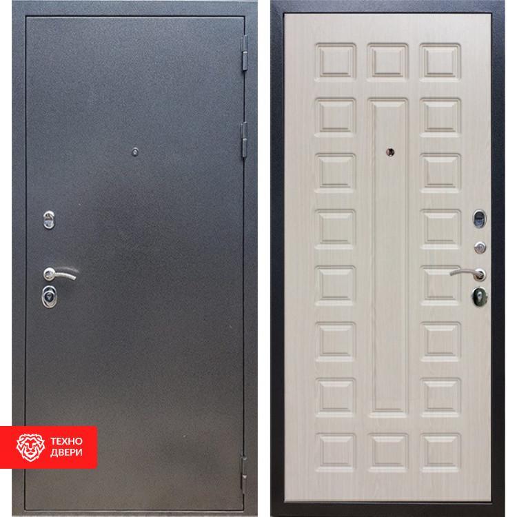 Входная стальная дверь Антик серебро / Дуб белёный, 16639