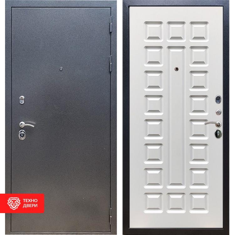 Входная стальная дверь Антик серебро / Белый ясень, 16641