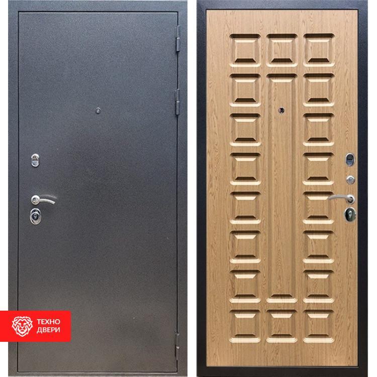 Входная стальная дверь Антик серебро / Дуб светлый, 11642