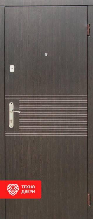 Дверь МДФ накладки цв.Венге и белый, 10014 внешняя сторона