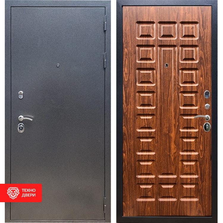 Входная стальная дверь Антик серебро / Берёза морёная, 16643
