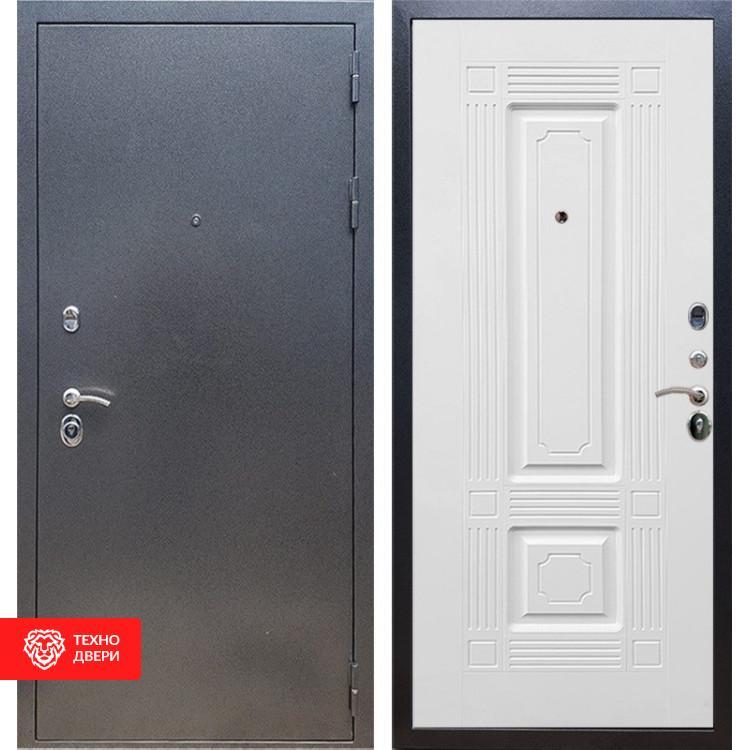 Входная стальная дверь Антик серебро / Белый силк сноу, 16650