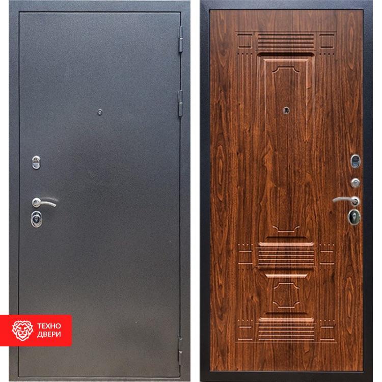 Входная стальная дверь Антик серебро / Берёза морёная, 16652