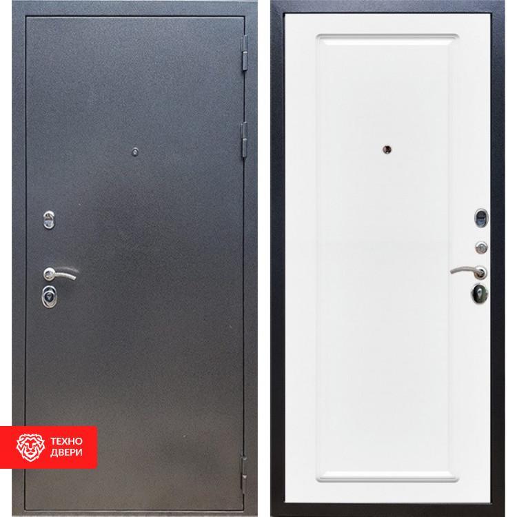 Входная стальная дверь Антик серебро / Белый матовый, 16653