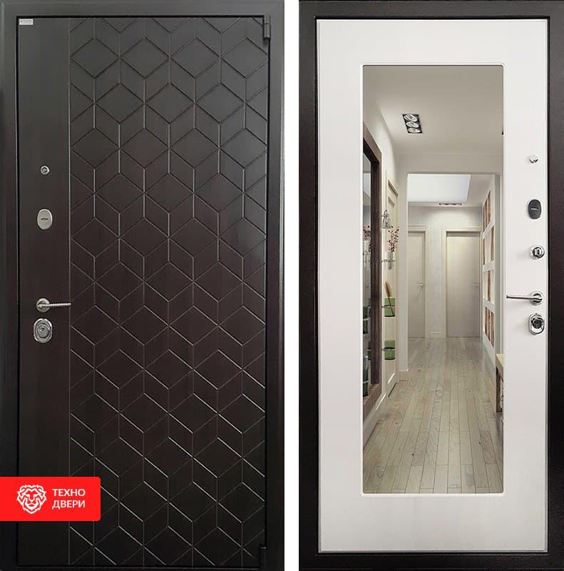 Входная металлическая дверь с зеркалом, 3853
