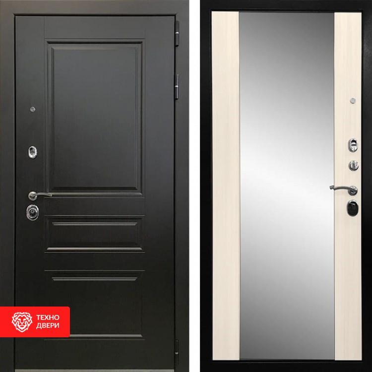 Входная металлическая дверь с зеркалом Венге / Сандал белый, 2843