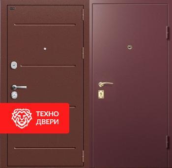Стальная дверь коричневая с порошковым напылением с 2-х сторон, 27533