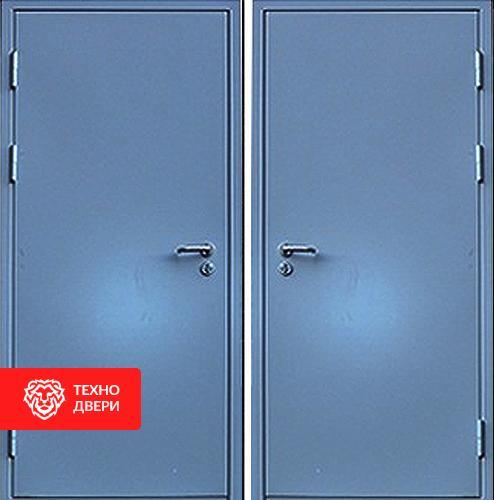 Железная дверь с простым окрасом с 2-х сторон, 27528