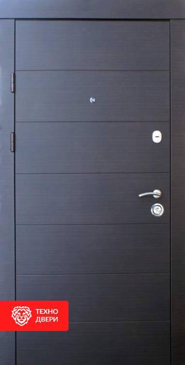 Дверь МДФ рис.Горизонтали в цвете венге и белый, 10023 внешняя сторона