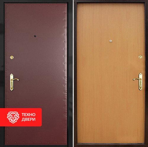 Металлическая дверь с винилискожей и ламинатом, 27544