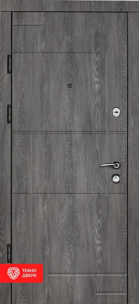 Дверь МДФ графит, цвет сивый Булат, 27861 внешняя сторона