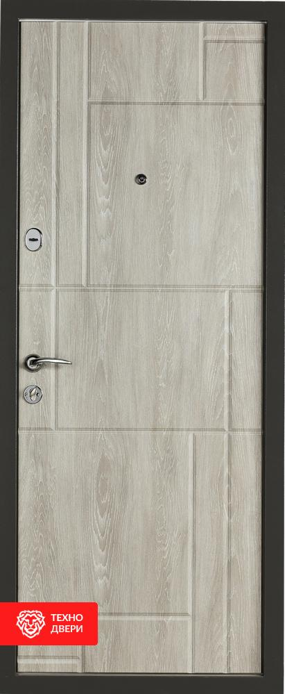 Дверь МДФ графит, цвет сивый Булат, 27861 внутреняя сторона