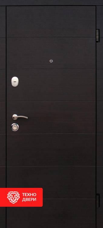 Дверь венге темный с белым МДФ рисунок Геометрия, 10024 внешняя сторона
