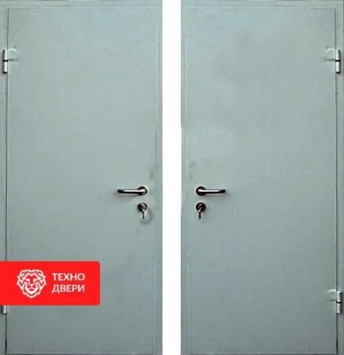 Входная эконом дверь с простым окрасом с 2-х сторон, 27529