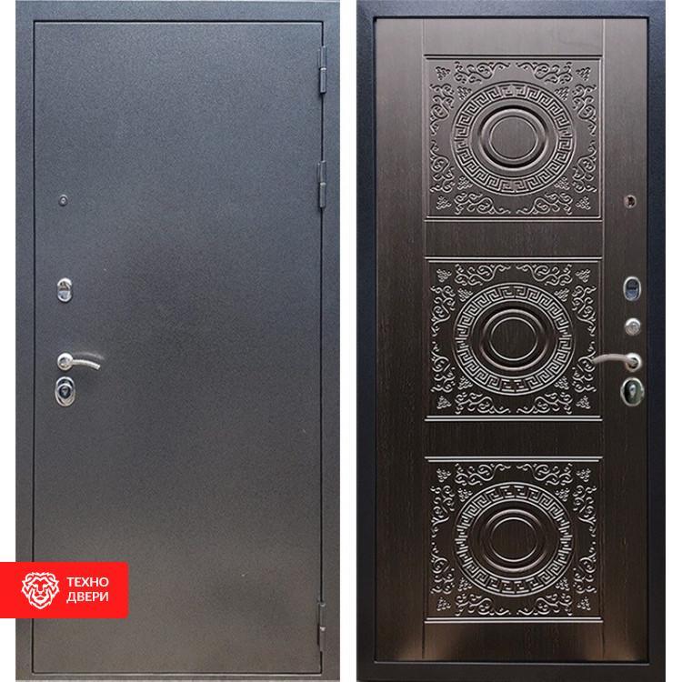 Входная стальная дверь Антик серебро / Венге, 16630