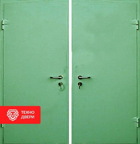 Стальная дверь с простым окрасом с 2-х сторон, 27530