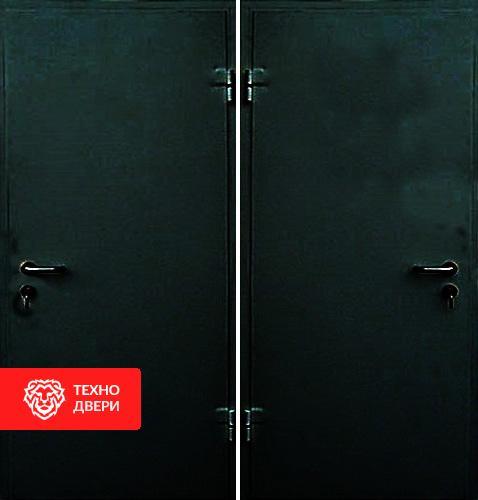 Металлическая дверь с простым окрасом с 2-х сторон, 27531
