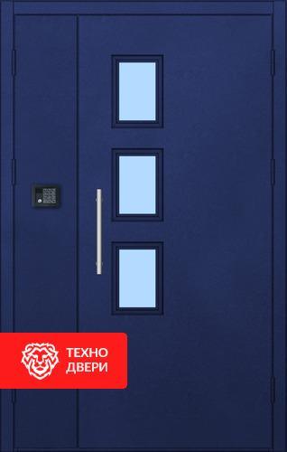 Входная дверь в подъезд с простой окрас с 2-х сторон, 27542