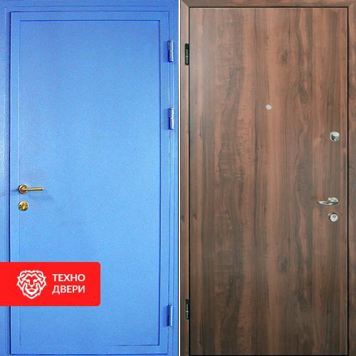 Металлическая дверь с простым окрасом и ламинатом, 27527