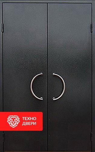 Входная двупольная дверь в подъезд с порошковым напылением с 2-х сторон, 27526