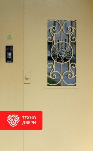 Стальная дверь в подъезд с простой окрас с 2-х сторон, 27543
