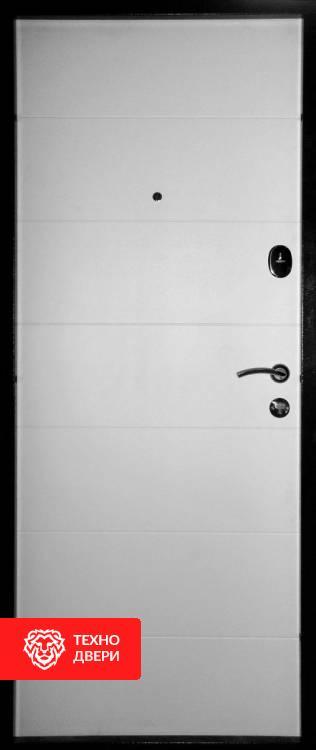 Дверь венге темный с белым МДФ рисунок Геометрия, 10024 внутреняя сторона