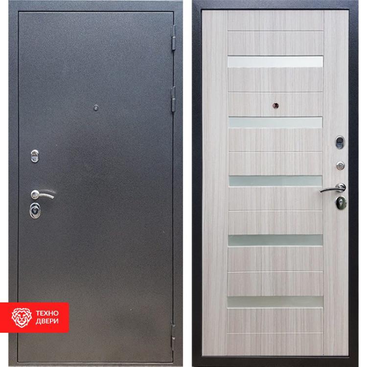 Входная стальная дверь Антик серебро / Сандал белый, 16668