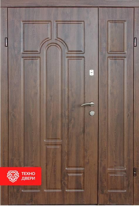 Дверь полуторная под дерево рисунок Арка, 21426 внешняя сторона