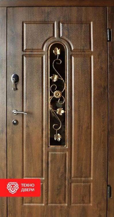 Дверь Арка с ковкой в пленке винорит, 21438
