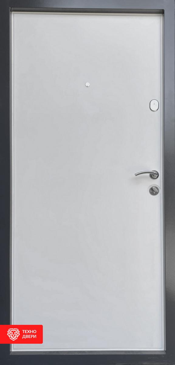 Дверь МДФ и напыление коричневая / МДФ белый , 21444 внутреняя сторона