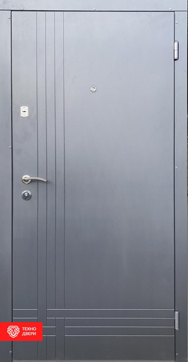 Дверь прошковая и МДФ рисунком горизонтали, 10018 внешняя сторона