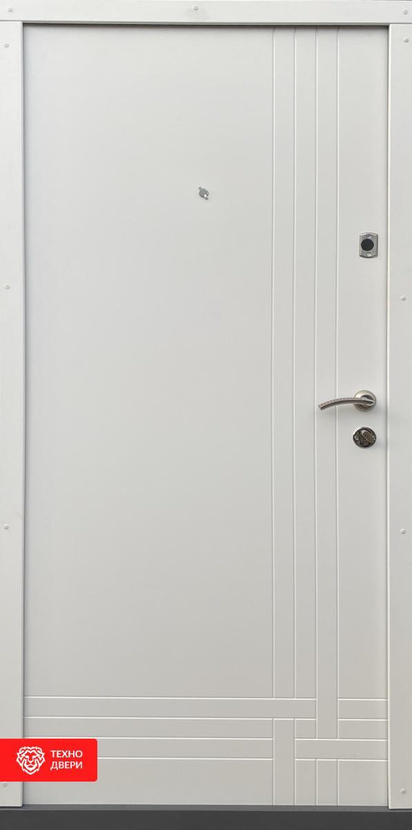 Дверь прошковая и МДФ рисунком горизонтали, 10018 внутреняя сторона