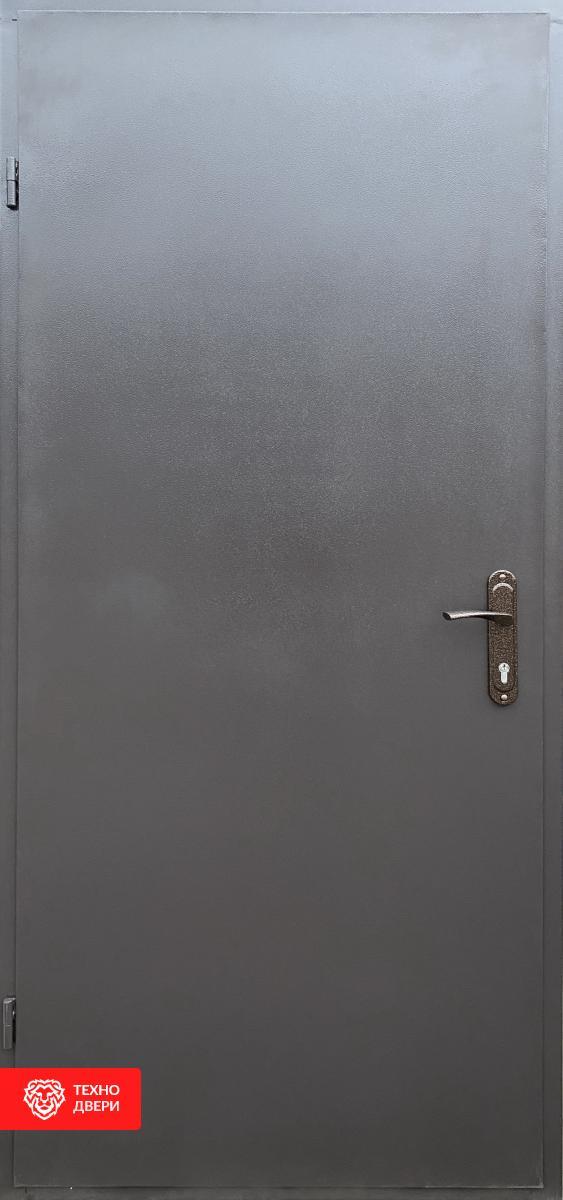 Дверь недорогая Серая Эко Техно, 27562 внешняя сторона