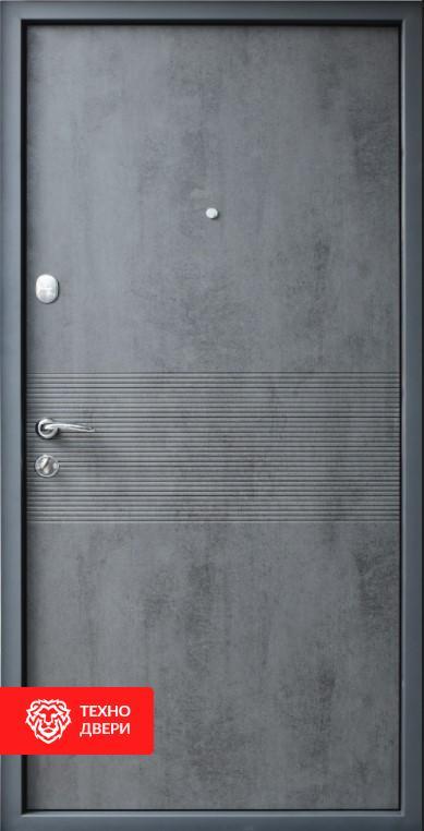 Дверь МДФ Бетон медный / Бетон серый, 26462 внутреняя сторона