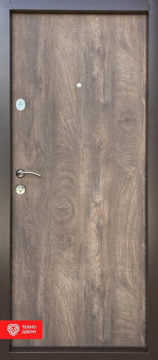Дверь с терморазрывом МДФ серый линии / МДФ белый, 276882 внутреняя сторона