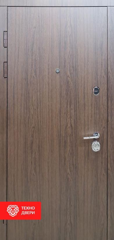 Дверь МДФ Винорит Дуб темный с двух сторон, 27867 внешняя сторона