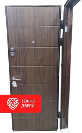 Дверь МДФ Винорит Дуб темный с двух сторон, 27867 внутреняя сторона