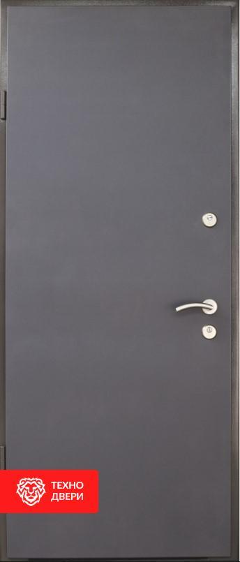 Дверь техническая усиленная Серая, 26465 внешняя сторона