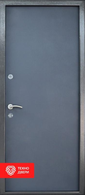 Дверь техническая усиленная Серая, 26465 внутреняя сторона