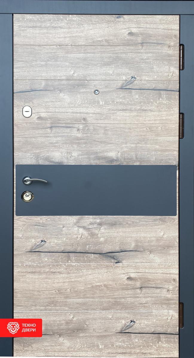 Дверь МДФ Премиум срез дерева декор ламинатом, 27850 внешняя сторона